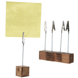 20pcs Wedding Place Card Holder Wood Table Number Clip Photo Holders Stand Retro