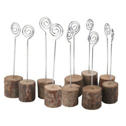 20pcs Wedding Table Number Clip Wood Place Card Holder Photo Holders Stand Retro