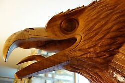 One-of-a-Kind Huge Hand-Carved Head EagleGriffinGargoyleDragonGrotesque