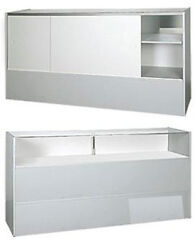 Jewelry Display Case In Gray Finish 70 Inches