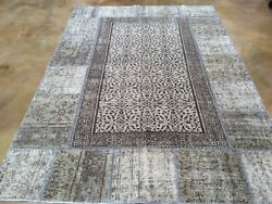 Hand-knotted Tribal Turkish Patch Work Handmade Wool Rug 6.3 X 9.2 Brrsf-1290