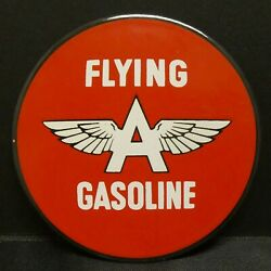 Dollhouse Miniatures Metal Sign Advertising Gas Flying A Gasoline 2 1/4