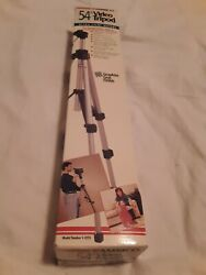 Ambico 54 Video And Camera Tripod Light Weight Aluminum In Original Box Nos