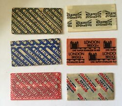 11 Vintage Collectible Razor Blades Odd Lot Of Different Blades Old Timers. V48
