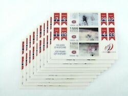 2009 Mint Montreal Canadiens Holographic Canada Stamp Stamps Sheet 10-pack 3x3