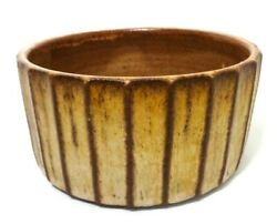 Dick Studley American, 20th C Vint Signed Lg Decorated Stoneware Ceramic Bowl