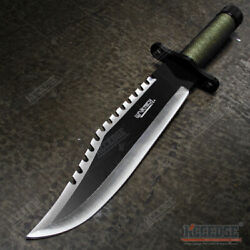 15quot; Two Tone Blade Rambo Survival Hunting Knife with Survival Kits