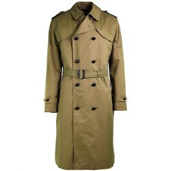Genuine Dutch Army Coat Khaki Long Officer Trench Coat With Lining New