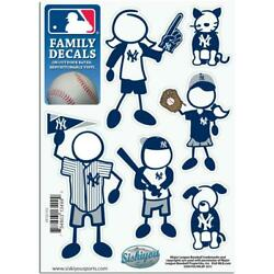 New York Yankees Family Decals 6 Pack NEW MLB Small Auto Car Stickers Emblems