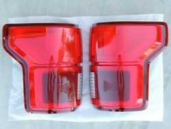 2018+ F-150 Led Tail Lights With Blind Spot Oem Ford Lamps Pair Rh Lh New Style