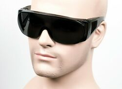 Large Will Fit Over Most Rx Safety Glasses Shield Sunglasses Dark SmokeGray 101