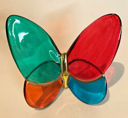 Figurines - Hand Painted Italian Art Glass Butterfly - Tabletop Decoration