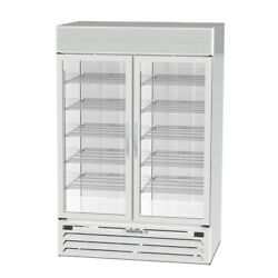 Beverage Air, MMRF49-1-WW-A-LED, Glass Door Refrigerators White exterior (New)