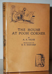 The House At Pooh Corner 1st/1st Edition W. Original Jacket A.a.milne