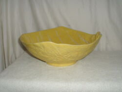 Secla Cabbage Leaf 12 Salad Serving Bowl Yellow