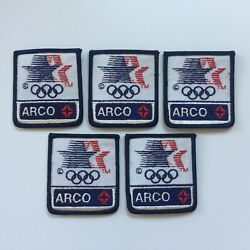 Vintage Lot Of 5 Los Angeles 1984 Summer Olympics Arco Oil And Gas Sponsor Patch
