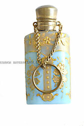 1800 French Opaline Scent Bottle Real Work Of Art Fantastic 2107