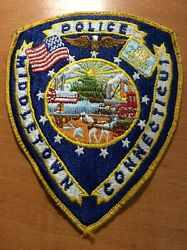 Vintage Patch Police Middletown Conncecticut Conn Ct