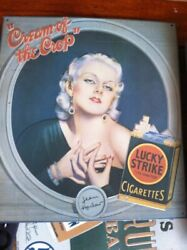 Jean Harlow Cream Of The Crop Lucky Strike Cigarettes Tin Ad Sign