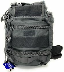 Tactical Utility Sling Bag GO Pack Suitable for Concealed Carry Black $29.99