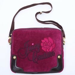 JUICY COUTURE MESSENGER BAG CROSSBODY STYLE PINK WITH EMBROIDERY $24.34