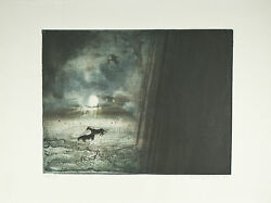 Monsoon By Kaiko Moti Signed Ltd Edition 42/120 Etching 22x30