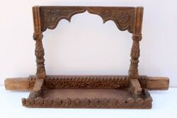 1900's Vintage Old Antique Wooden Hand Carved Beautiful Hindu Temple Stand