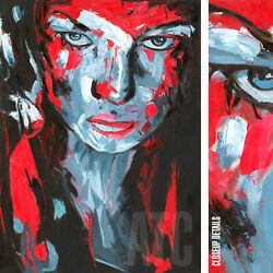 36wx48h The Stare Francoise Nielly-style Oil Painting Reproduction On Canvas