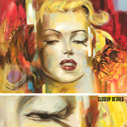 48wx36h Marilyn Monroe - Corno-style Stretch Oil Painting Reproduction Canvas