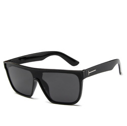 LE Men T-type Rice Nail Sunglasses One-Piece Fashion Outdoor Drive Black Goggles
