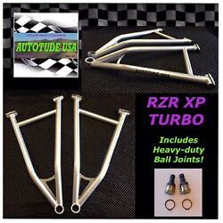 2017-2019 Rzrxp Turbo 2 And 4 Arched Hd Chromoly Lower A-arms W/ball Joints Silver