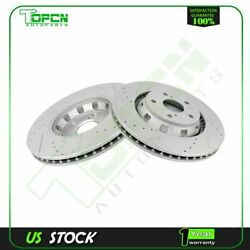 Front Brake Discs Rotors For Toyota Venza 2009 2010 - 2016 Vented And Drilled
