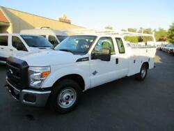 2013 FORD F250  DSL XL 89171 Miles WHITE UTILITY BED NEW V8 6.7L; TURBO AUTOMAT