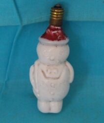 Old Antique Glass Christmas Tree Decoration Children Shape Light Bulb Collective