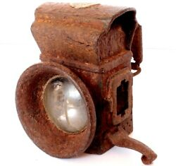 Decorative Lighting Lamp Antique Old Iron Carved Made In India Collectible Pc