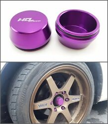 Center Wheels Caps Front Axel Hub Dust Grease Cnc Violet For Isuzu Dmax Chevy Hd