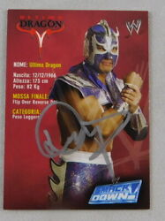 Ultimo Dragon Signed Pro Wrestling Trading Card Wwe Smackdown 61 Rare Limited