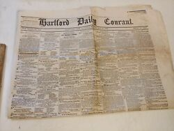 Antique Hartford Daily Courant Newspaper May 21, 1864 Civil War News
