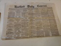 Antique Hartford Daily Courant Newspaper May 20 1864 Civil War News
