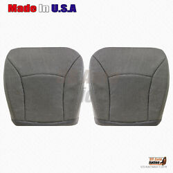 Front Bottoms Gray Seat Cloth Cover 2000 -2002 Ford E Series Econoline Cargo Van