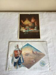 Antique Mixed Lot Of 2 Clarks O.n.t. Spool Cotton Advertising Trade Cards