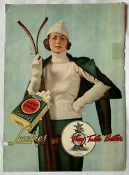 Vintage Wrigley's Gum And Lucky Strike Cigarettes 1934 Magazine Ad Front And Back