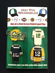 Green Bay Packers Aaron Rodgers Jersey Lapel Pins-collectibles-4 Caps-go Pack Go