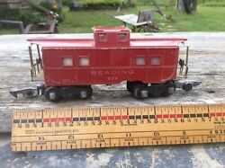 Vintage American Flyer Red Caboose Reading 630 ,1949 - 53 , Weighted Coupler