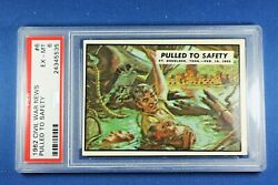 1962 Topps Civil War News - 6 Pulled To Safety - Psa Exmt 6