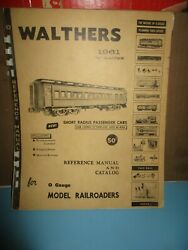 Walthers 1961 O Gauge Reference Manual And Catalog 1960, Paperback, Illustra