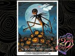 The Nightmare Before Christmas 20th Art Print DSF Posters Blue Disney jack