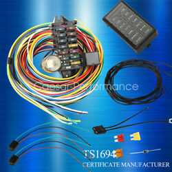12-14 Circuit Universal Wiring Harness Muscle Car Hot Rod Street Xl Wires New