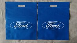 FORD Logo Tote Bags BlueWhite SET of (2) TWO! FREE SHIPPING Beach Grocery F-150