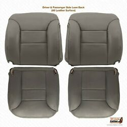 1995 - 1999 Chevy Tahoe Suburban Silverado Front Bottoms-tops Leather Cover Gray